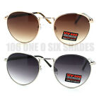 Classic Style Metal Frame Oval Round Sunglasses New 4 Colors