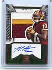 2012 CROWN ROYALE #276 ROBERT GRIFFIN III AUTO 3-COLOR PATCH ROOKIE RC SP #33 49