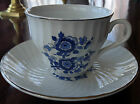 4  WEDGWOOD ENOCH ROYAL BLUE IRONSTONE CUP & SAUCER SETS - ONE PRICE FOR ALL 4!