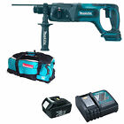 MAKITA 18V BHR241 HAMMER DRILL BL1830 BATTERY DC18RC CHARGER & DK18027 BAG