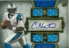 CAM NEWTON 2011 TOPPS SUPREME QUAD RELIC ROOKIE AUTOGRAPH CARD 10 PANTHERS