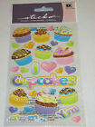 Scrapbooking Crafts Stickers Stickos Cupcakes Hearts Title Sprinkles Frosting