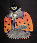 FITZ AND FLOYD ESSENTIALS KITTY WITCHES CANDY DISH / CANAPE HALLOWEEN   PLATE EC