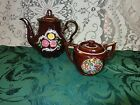 Occupied Japan hand painted Teapot and sugar with lid-Good vintage condition