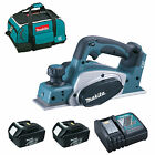MAKITA 18V BKP180 PLANER 2 BL1830 BATTERIES DC18RC CHARGER & BAG