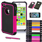 Hybrid Shockproof Durable Rubber Case Cover For Apple iPhone 5 SE 5S + Pen