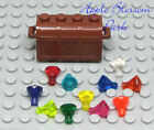 NEW Lego Pirate Reddish BROWN TREASURE CHEST w/11 Different Color Jewels/Gems