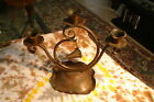 Vintage Gregorian Copper 3 Arm Candle Holder W/ Snuffer Made in U.S.A.