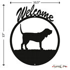 Bloodhound Black Metal Welcome Sign NEW