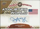 Justin Smoak 2010 Upper Deck World Of Sports Athletes Of The World Autographs