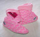 Grosby Ladies Pink Zig Zag Printed Hoodies Slipper Boots Size L New