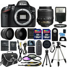 Nikon D3200 Digital SLR Camera + 3 Lens 18 55mm NIKKOR Lens + 24GB Bundle