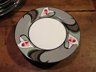Fitz & Floyd LIS DE PLATINE Salad Plates - 1980s Pattern - 3 Available