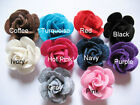 10 Cute Felt 1 Rose 4D Flower Applique ring bow U PICK D009