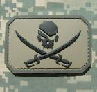 PIRATE SKULL 3D PVC FLAG US ARMY MORALE TACTICAL MILITARY BADGE ACU VELCRO PATCH