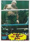 George Steele Signed WWF 1985 Topps Rookie Card 21 PSA DNA COA RC WWE The Animal