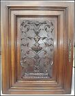 French Antique Carved Walnut Wood Architectural Door Panel Gothic (2)