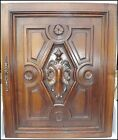 French Antique Carved Walnut Wood Architectural Door Panel Gothic (1)