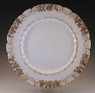ANTIQUE COALPORT ENGLAND SEA SHELL SEAWEED GOLD DINNER PLATE