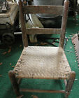 Antique Cane Child'S Seat Wood Chair Family Heirloom With Provenance Dpc