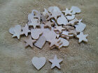 Unfinished Wood Wooden Shapes Small 1  Hearts and Stars Lot of 50