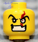 NEW Lego Villian Minifig HEAD Dr. Inferno w/Red Scar Eye - Police/Agents/Pirate