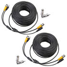 2X 100 ft BNC CCTV Video Power Cable CCD Security Camera DVR Surveillance Wire M