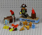 LEGO - 28 pcs Lot Treasure Chest Pirate Captain Jewels Gold Gems Map Booty