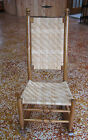 ANTIQUE WOVEN SEAT LIGHT WOOD ROCKER ROCKING CHAIR SIMPLE ELEGANCE