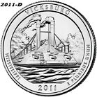 2011 D VICKSBURG UNCIRCULATED NATIONAL PARK QUARTER I HAVE ALL ATB QUARTERS
