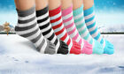 Toe Socks 6 Pair Soft Striped Ladies Women Girls Size 9 11 Fun Color Style