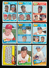 1965 TOPPS BASEBALL PARTIAL SET 484 598 NM WITH MANY STARS *26447