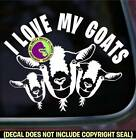 I LOVE MY GOATS Group of Goat Farm Animals Car Window Sign Vinyl Decal Sticker
