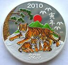 Cook 2010 Year of Tiger 25 Dollars 5oz Colour Silver Coin,Proof