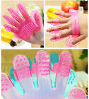 Pets Cleaning Comb Bathing Massage Mitt Glove Grooming Bath Brush For Cats
