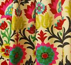 Waverly Fabric Santa Maria Desert Flower Suzani Curtain Fabric