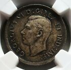 1937 SILVER CANADA 25 CENTS GEORGE VI COIN NGC MINT STATE 64