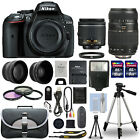 Nikon D5300 Digital SLR Camera + 4 Lens Kit 18 55mm + 70 300mm + 24GB Kit