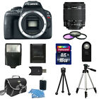 Canon EOS Rebel SL1 100D Digital SLR Camera + 18 55mm IS STM 16GB Flash