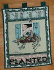 Mary Engelbreit Tapestry BLOOM WHERE YOU ARE PLANTED Wall Hanging Gardening 1984