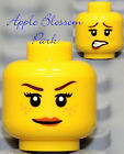 NEW Lego Female MINIFIG HEAD w/Pink Red Lips Smile - Pirate/Castle Princess Girl