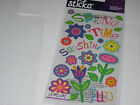 Scrapbooking Crafts Stickers Sticko Spring Time Sunshine Fun Bright Flowers More