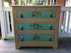 ROMANTIC COTTAGE DRESSER WITH HAND PAINTED FLOWERS 1890s CHIC SHABBY PARIS APT