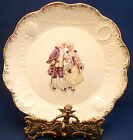 Antique Carrollton Colonial Courting Couple Cabinet Sm Plate Porcelain Purple