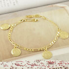 Arab Style Womens Unisex Link/Ancient Coins Bracelet Yellow Gold Filled,Z2747