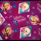 Disney Frozen Anna and Elsa Sisters Forever Fleece Fabric 2 Yards