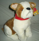 KellyToy Bulldog Kennel Klub Plush Red Bandana Sitting 15