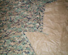 GOOD Genuine USMC Reversible Digital Woodland MarPat & Coyote Brown Field Tarp