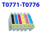 6PK Hi-Yield NON-OEM Ink T0771 - T0776 for epson R260 R280 R380 RX580 595 RX680