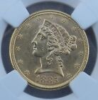1885-S $5 Liberty Head Half Eagle Gold NGC MS61 Coin Five Dollar  *